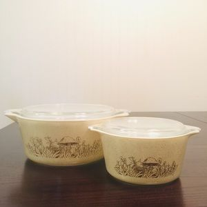 Vintage Pyrex Forest Fancies Casseroles